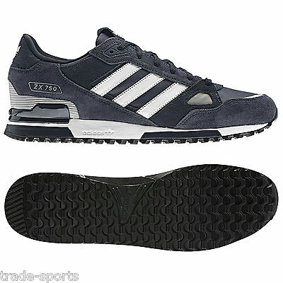 super popular 0e12d 6b3b2 adidas ORIGINALS MENS ZX 750 UK SIZE 7 8 9 10 BLUE RUNNING TRAINERS SHOES  NEW