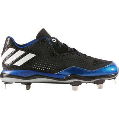 Neu Herren Adidas Poweralley 4 Baseball Metall Stollenschuhe Schwarz/Royal