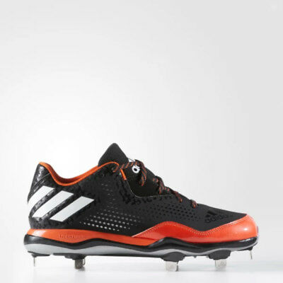 Neu Herren Adidas Poweralley 4 Baseball Metall Stollenschuhe Schwarz/Orange