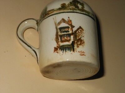 "Vintage China Childs Mug ENGLISH HOUSES, 2 1/4"" TALL"