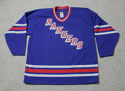 Vintage NEW YORK RANGERS NHL Hockey Jersey Adult XL MASKA CCM Made in USA 628f317d7