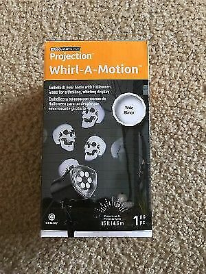 LED Projection Skulls Whirl-A-Motion - White - NEW - FREE NEXT DAY UPS SHIPPING!