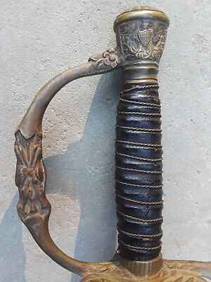 Original Collectible Antique Military US Civil War Era  Officer's Sword Germany