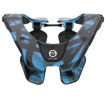 Atlas Tyke Youth Neck Brace Cyan Laser Blue