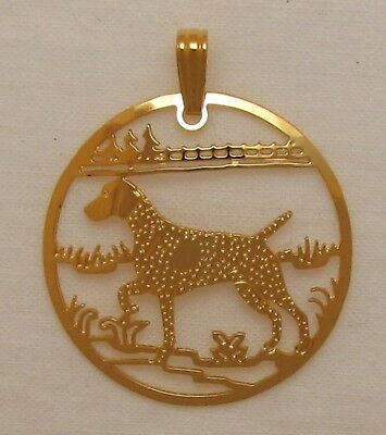 German Shorthaired Pointer Jewelry Gold Pendant