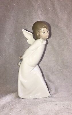 Vintage LLADRO Curious ANGEL Figurine 4960 w/Lantern - Made in SPAIN - Repaired