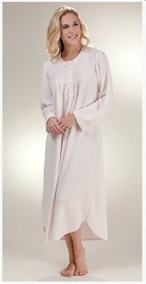 "NWT Miss Elaine Woman Gown Plus 2X Long 48"" Nightgown Cuddleknit Peach $68."