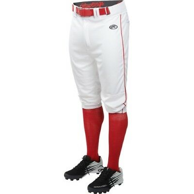 63567fb2a15 Rawlings Launch Knicker Piped Pant LNCHKPP - WH RD - M
