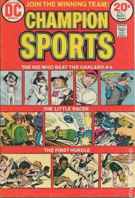 Champion Sports (DC) #1 1973 VG Stock Image Low Grade