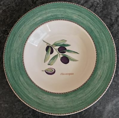 "superb WEDGWOOD SARAH'S GARDEN pattern 9"" green RIMMED DISH 7 available"
