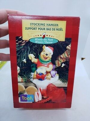 Hallmark Winnie The Pooh Santa Christmas Stocking Hanger in Original Box Disney