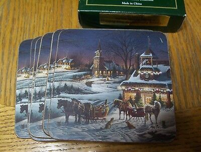 Terry Redlin Evening Rehearsals COASTERS ~ Set of 6  New Cork Back