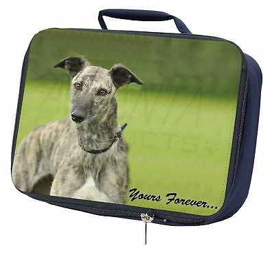 Greyhound Dog 'Yours Forever' Navy Insulated School Lunch Box Bag, AD-LU7yLBN