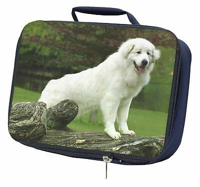 Pyrenean Mountain Dog Navy Insulated School Lunch Box Bag, AD-PM1LBN
