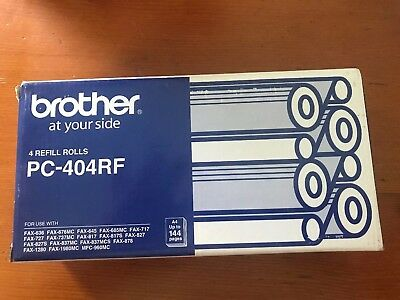 Brother Fax Film Rolls X 2  Pc-404Rf See  Photo For Full Compatibility 2 Rolls