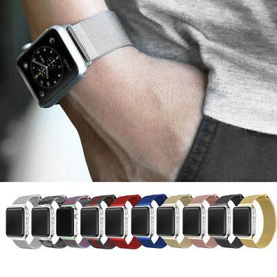 For Apple Watch Series 4 3 2 1!Milanese Magnetic Wrist Strap Band 38/40/42/44mm