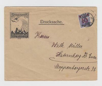 Danzig:  1920 advertising cover (airmail propaganda of sorts - stamp dealer)