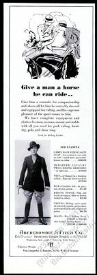1932 equestrian man photo horse art Abercrombie & Fitch riding clothes print ad