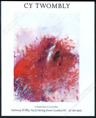 1987 Cy Twombly painting London gallery show vintage print ad