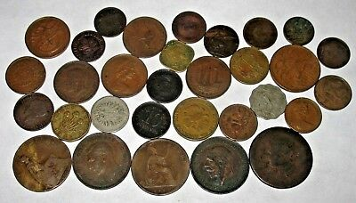 1800s and 1900s VINTAGE FOREIGN COINS! OLD COIN LOT!  (20n)
