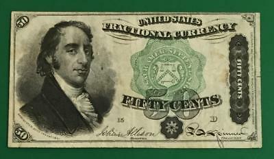 "1869 US Fractional Currency ""DEXTER"" CHOICE FINE! Very Nice! Old US Currency"