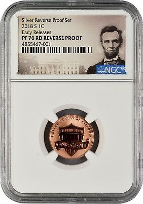 2018 S Lincoln Penny REVERSE PROOF Early Releases NGC PF70 RD (POR)
