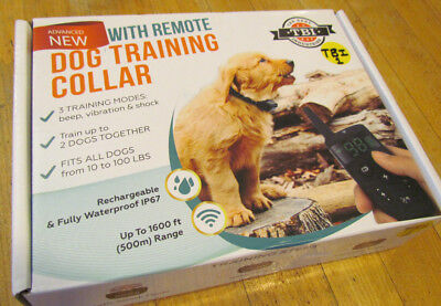 TBI Dog Training Collar With Remote Waterproof One Dog - Open Box