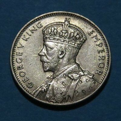 1936 MAURITIUS 1/4 Ruppe Silver Coin XF Cond. Very Tough Coin This Nice! Africa.