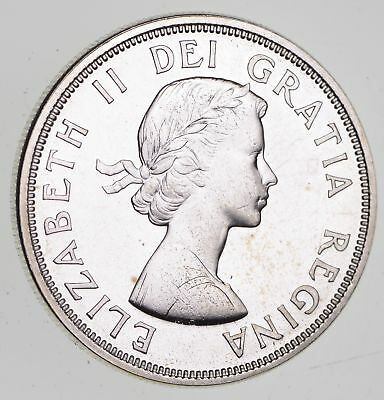 Roughly Size of Silver Dollar - 1964 Canada $1 Dollar Silver Coin 23.5g *322