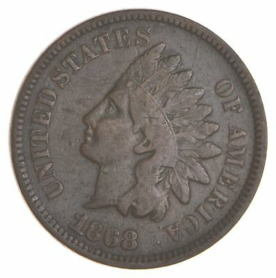 BETTER- 1868 Indian Head Cent Penny - Tough Coin *125