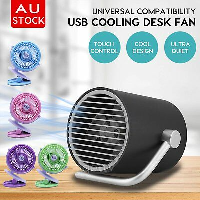 Portable Mini Fan Clip On Desk USB Pram Cot Car 360° Rechargeable Office Laptop