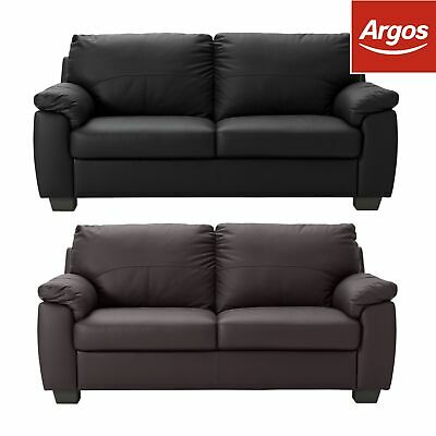 Argos Home New Logan 3 Seater Leather Sofa - Choice of Colour