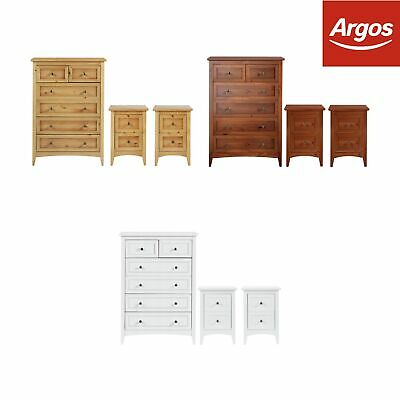 Argos Home Camborne Double Bedside & 4+2 Drawer Package - Choice of Colour
