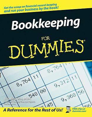 Bookkeeping For Dummies (US Edition) by Epstein, Lita, Good Book (Paperback) Fas