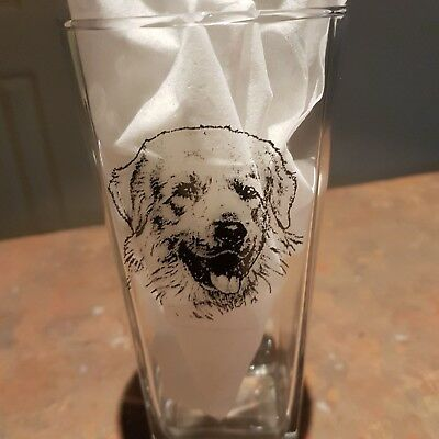 Pyrenean Mountain Dog Great Pyrenees Design Tumbler Glass -  NEW - MUST L@@K!