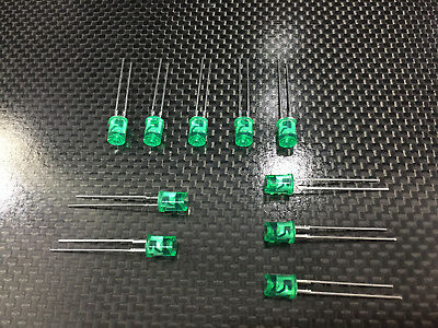 10pcs SanKen - LED GREEN SEMICONDUCTORS