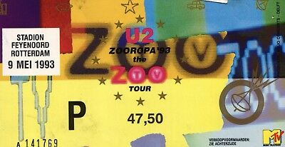 U2 Zooropa Ticket Fridge Magnet