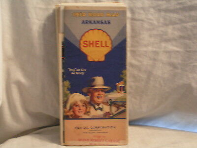 1930's Shell Oil Co Road Map For Ontario
