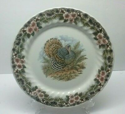 "Queens Myott Archive Thanksgiving Multicolor Turkey 12"" Round Platter Unused"