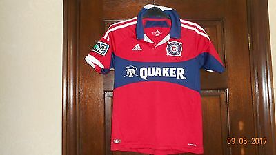 Boys Football Shirt - Chicago Fire - Age 11/12 - Home 2012/14 - Adidas - Red