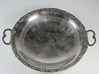 Vintage Silver Plated SWEET or BON BON DISH on PEDESTAL International Silver Co.