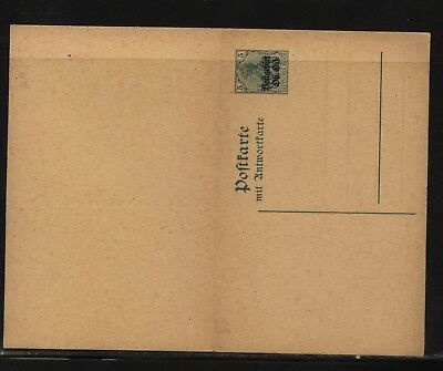 Lithuania  postal  reply   card  unused         MS0913