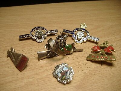 Lot of  Six Vintage Pins - Nepal, Blue Enamel, Munchen  - 28.3 Grams