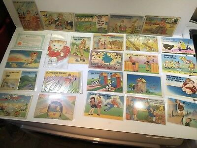 WW2 Military Humor Postcards Lot Of 46 Estate Find