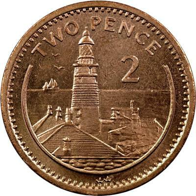 Gibraltar - 2 Pence - 1995 - Unc - Lighthouse On Europa Point