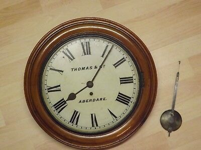 Thomas of Aberdare Welsh Antique Chapel Fusee Wall Clock 1905 Large