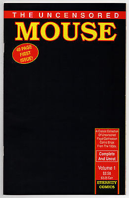 THE UNCENSORED MOUSE #1 - Walt Disney - MICKEY MOUSE - 1989 - 9.6 OR BETTER