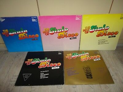 The Best Of Italo Disco. Vol. 4,5,7,8,10.  10 LP's  zyx records