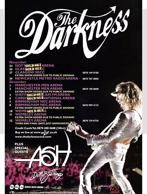 The Darkness Tour Poster Fridge Magnet