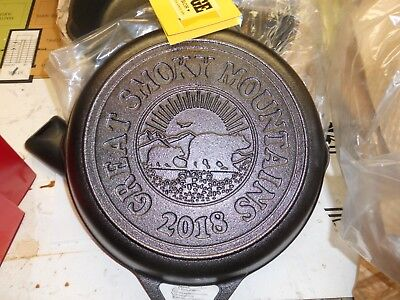 "Lodge Cast Iron Great Smoky Mountains 2018 Limited Ed Skillet 10.25"" 1st Quality"